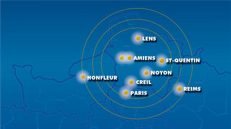 1995 – 2012 : Réseau de proximité sur le Grand NORD de France